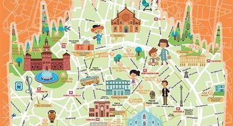 Mappa per Bambini di Milano